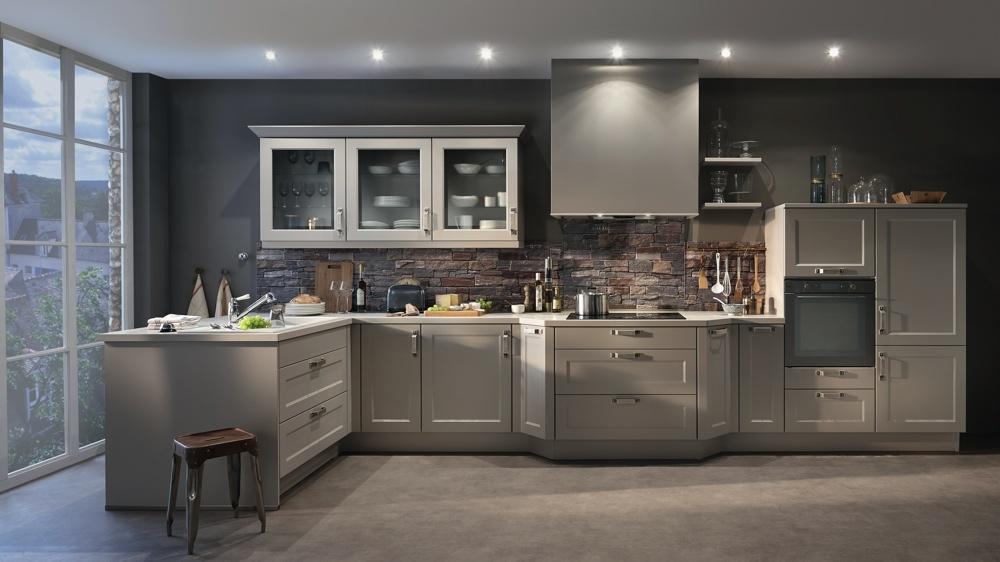 Meuble de cuisine blanc et gris - Maison et mobilier d\'intérieur