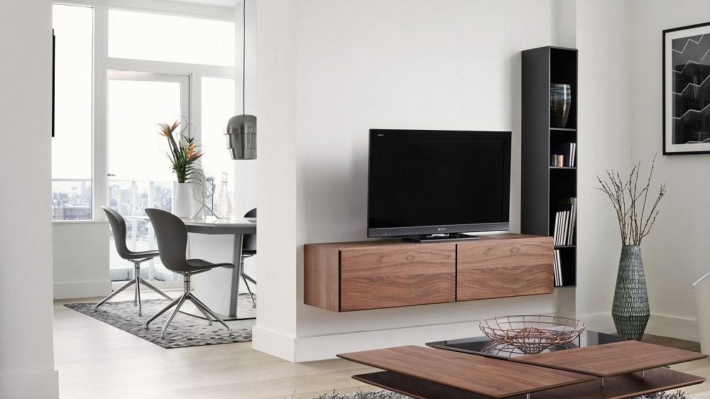 Meuble tv qui s 39 accroche au mur maison et mobilier d 39 int rieur - Meuble tv accroche au mur ...