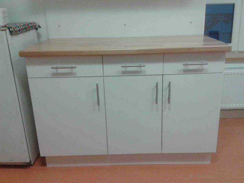 Buffet bas cuisine blanc maison et mobilier d 39 int rieur for Buffet cuisine soldes