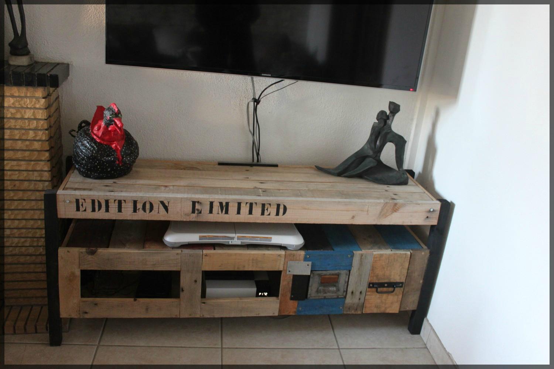 beau Comment faire un meuble tv avec des palettes