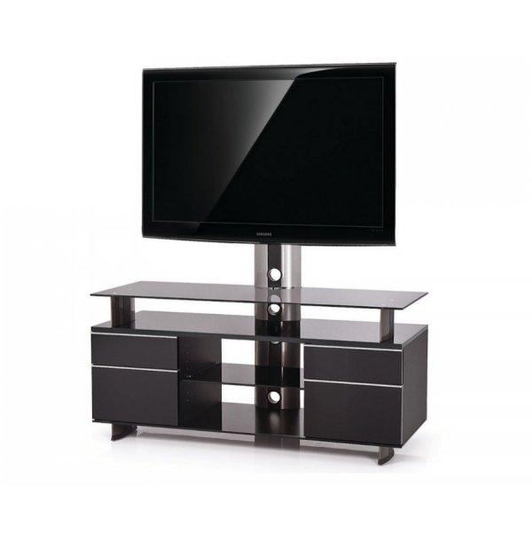 Meuble Tv Noir 120 Cm Maison Et Mobilier D Interieur