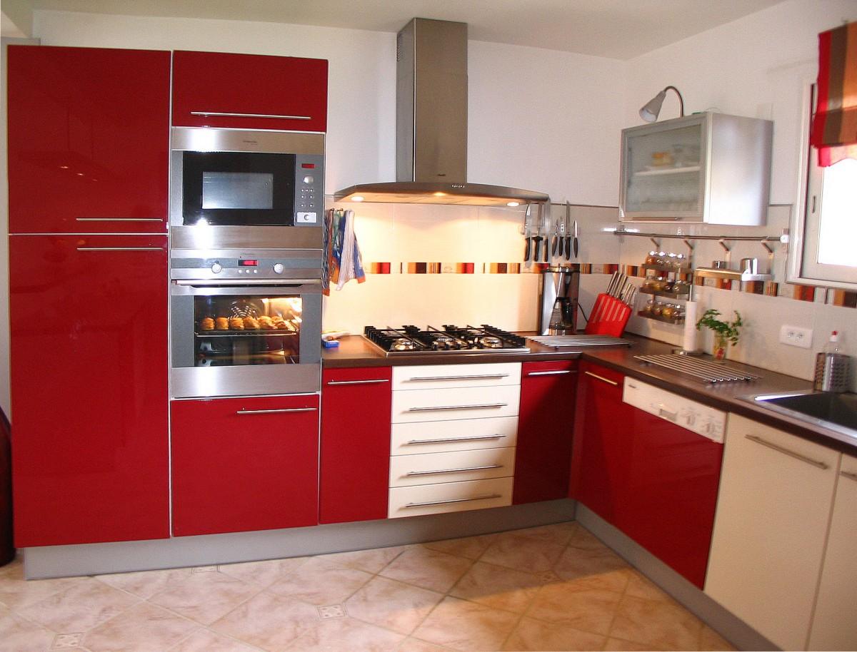 Meuble De Cuisine Rouge Mat Maison Et Mobilier D Interieur