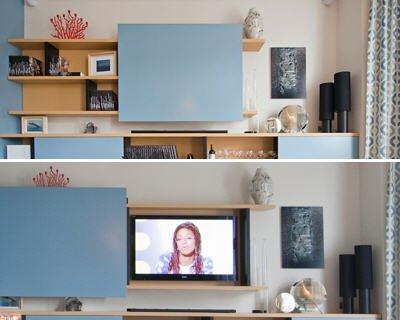 meuble tv qui cache tele maison et mobilier dintrieur