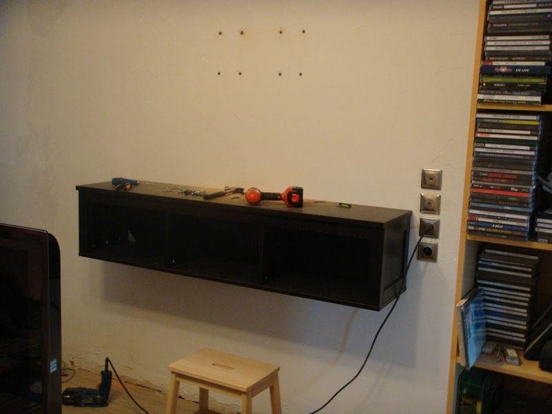 Meuble tv a fixer au mur maison et mobilier d 39 int rieur - Meuble tv a fixer au mur ...