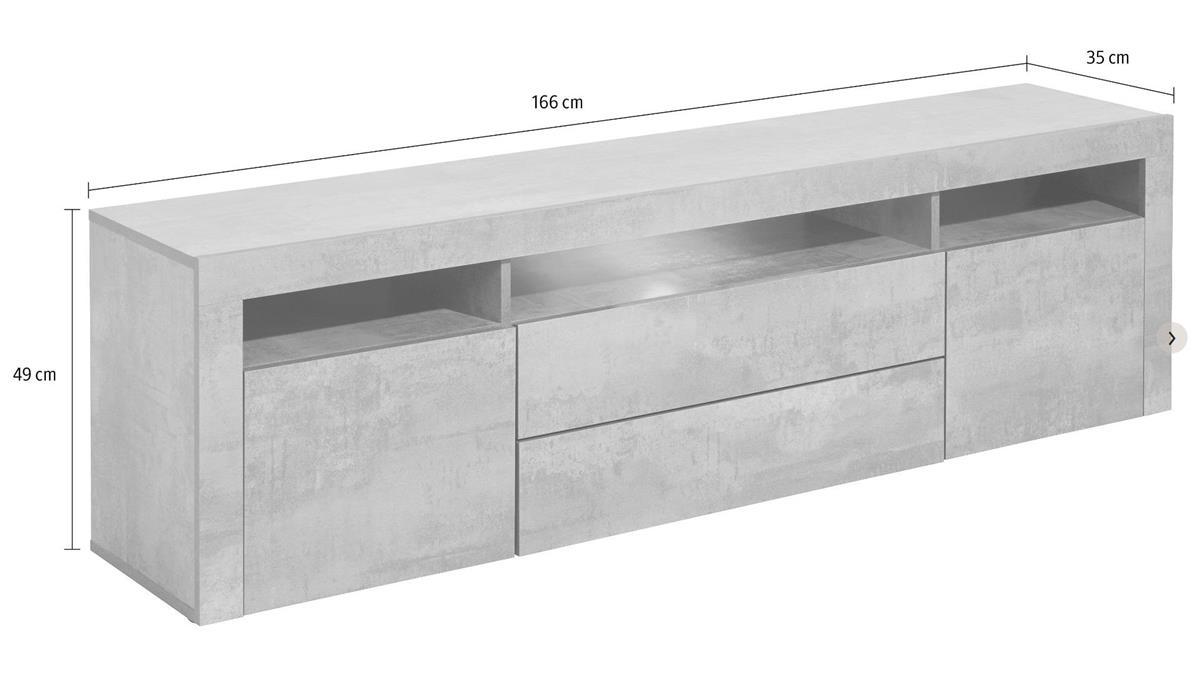 meuble tv effet beton maison et mobilier d 39 int rieur. Black Bedroom Furniture Sets. Home Design Ideas