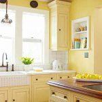 Meuble de cuisine jaune