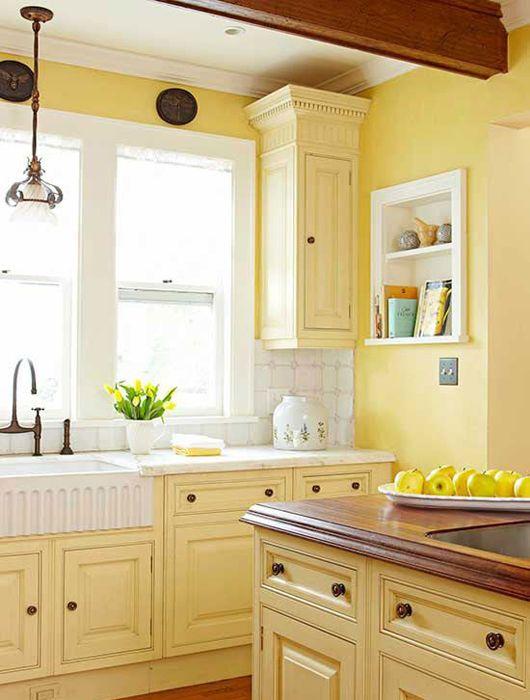 Meuble de cuisine jaune - Maison et mobilier d\'intérieur
