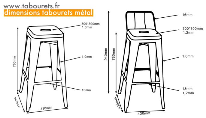 tabouret de bar dimension maison et mobilier d 39 int rieur. Black Bedroom Furniture Sets. Home Design Ideas