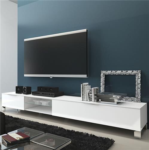 Meuble tv large maison et mobilier d 39 int rieur for Meuble tv pas large