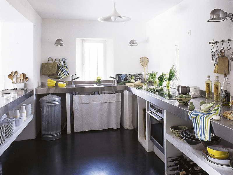 Meuble De Cuisine Avec Rideau Maison Et Mobilier D Intérieur