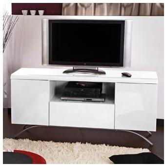 meuble tv 100 cm blanc laqu maison et mobilier d 39 int rieur. Black Bedroom Furniture Sets. Home Design Ideas