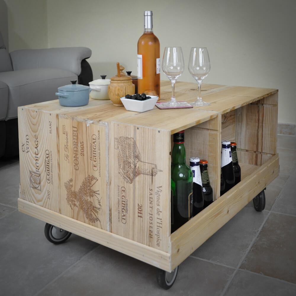 Meuble Tv Caisse De Vin Maison Et Mobilier D Interieur