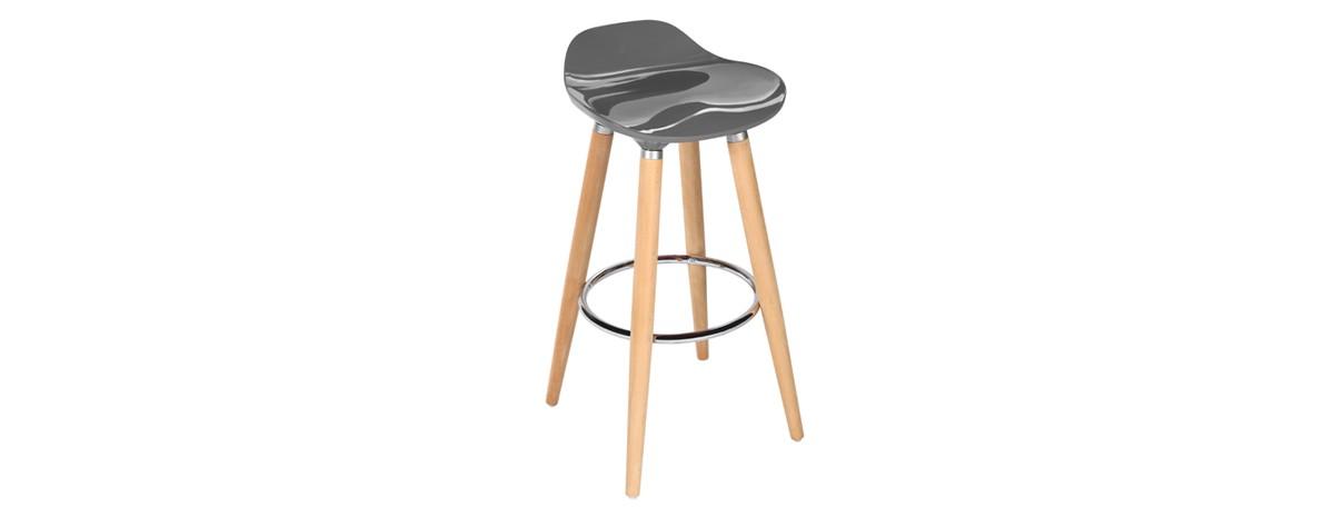 tabouret de bar gris et bois maison et mobilier d 39 int rieur. Black Bedroom Furniture Sets. Home Design Ideas