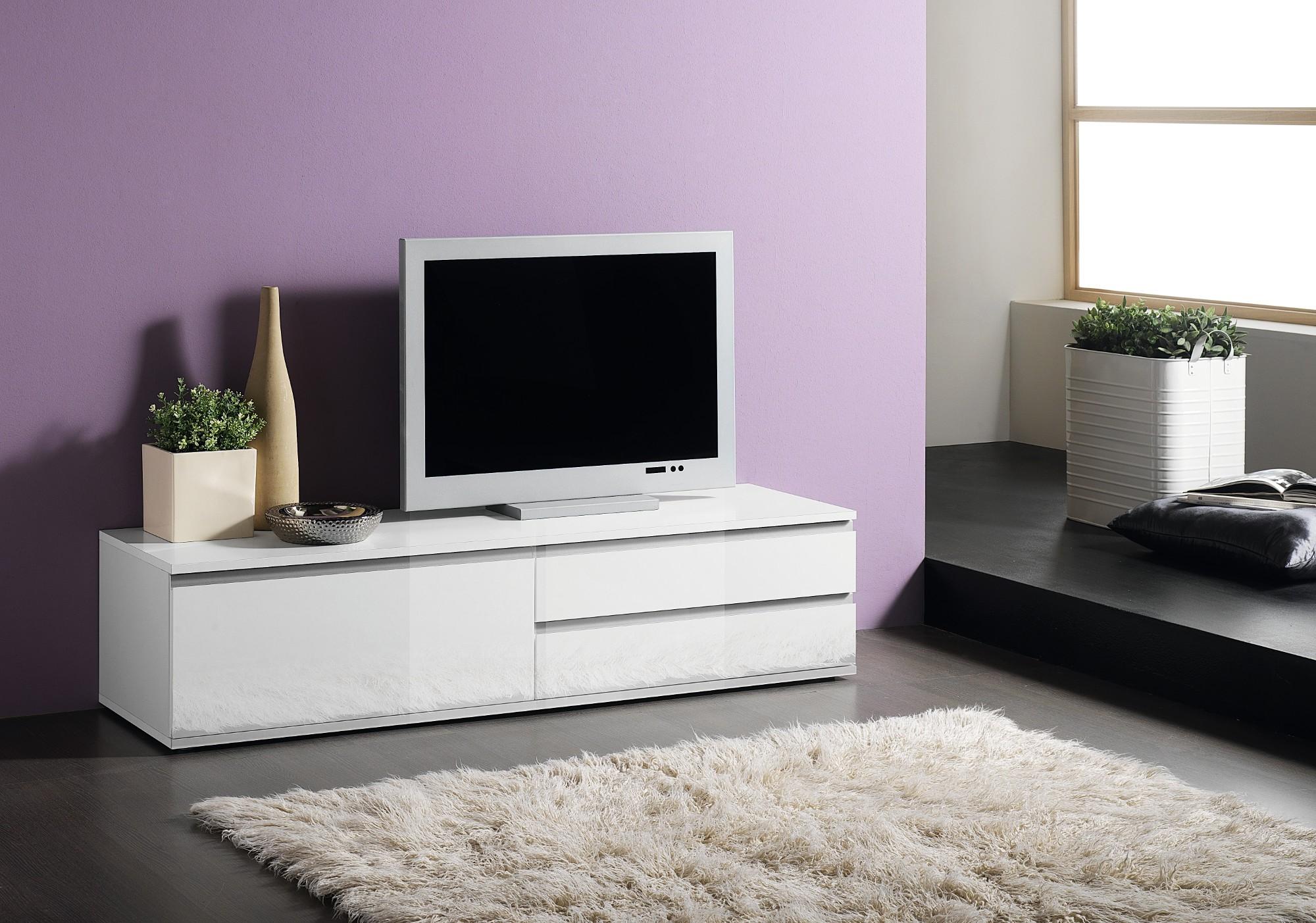 Banc Tv Blanc Pas Cher Maison Et Mobilier D Int Rieur # Meuble Tv Conforama Pas Cher