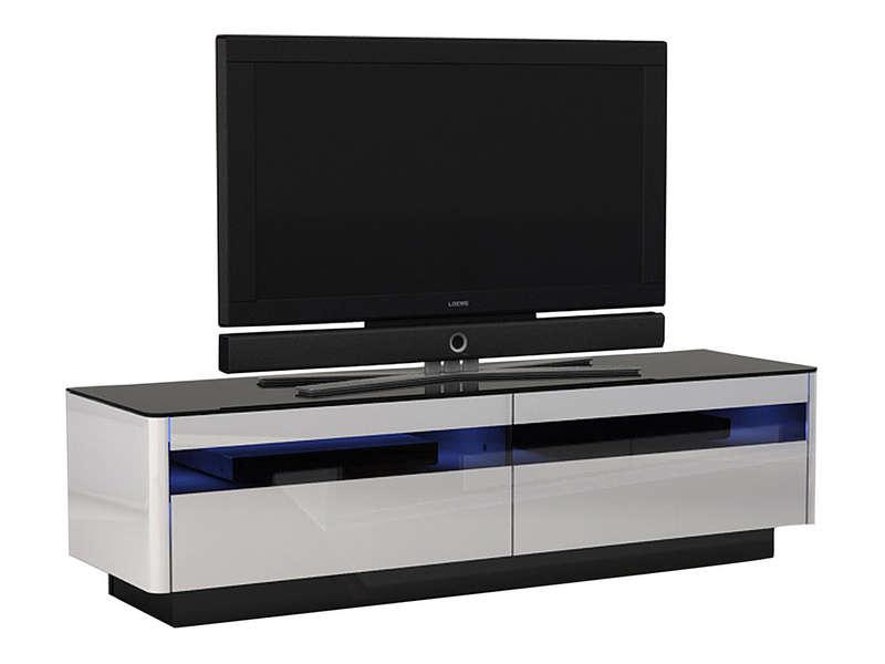 meuble tv 90 cm conforama - Meuble Tv Noir Et Blanc Conforama