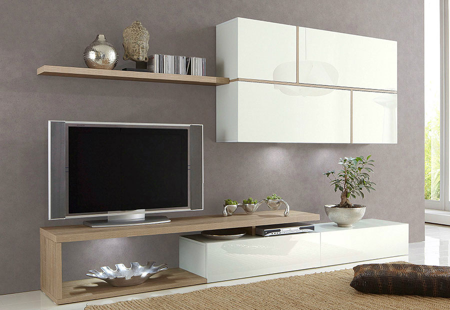 Meuble Tv Blanc Laqué | Urbantrott.Com