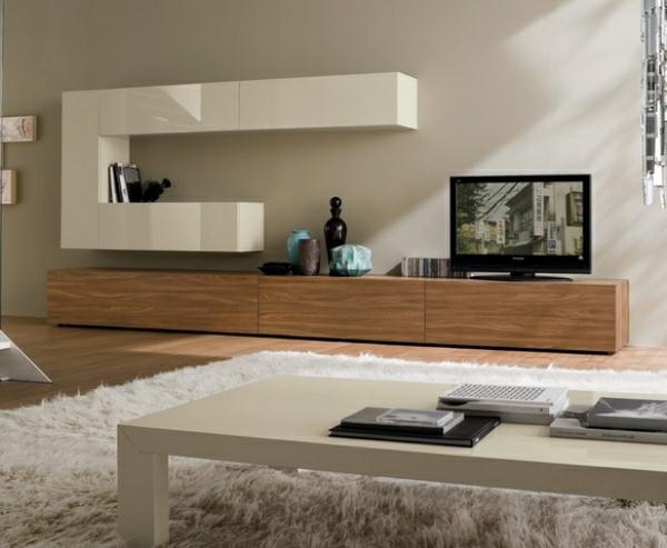 meuble tv design bois - Meuble Tv Bois Et Laque