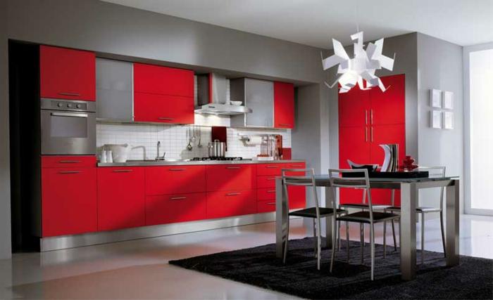 meuble de cuisine rouge et gris maison et mobilier d. Black Bedroom Furniture Sets. Home Design Ideas