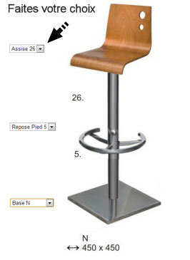 tabouret de bar hauteur assise 90 maison et mobilier d 39 int rieur. Black Bedroom Furniture Sets. Home Design Ideas