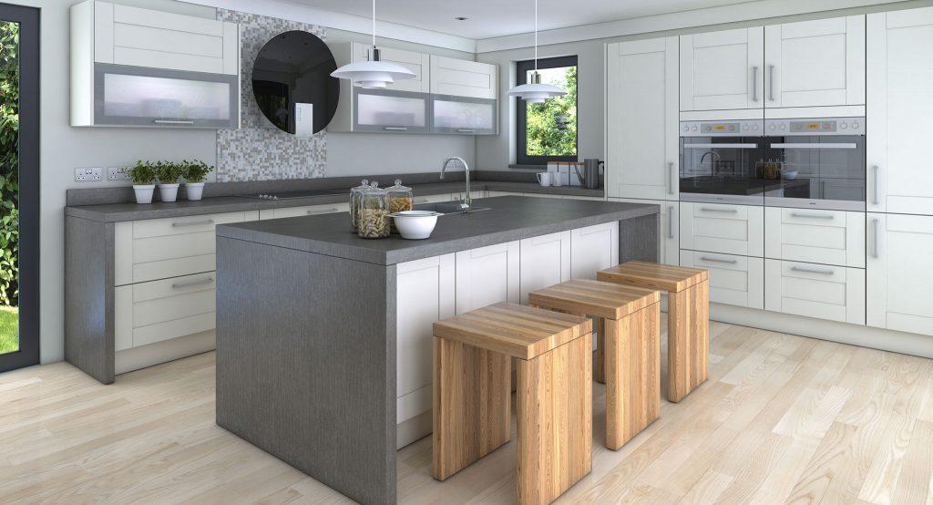 cuisine equipee en l maison et mobilier d 39 int rieur. Black Bedroom Furniture Sets. Home Design Ideas