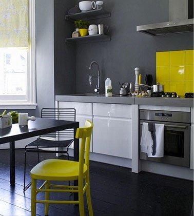 Meuble cuisine gris et blanc maison et mobilier d 39 int rieur for Cuisine peinte en blanc