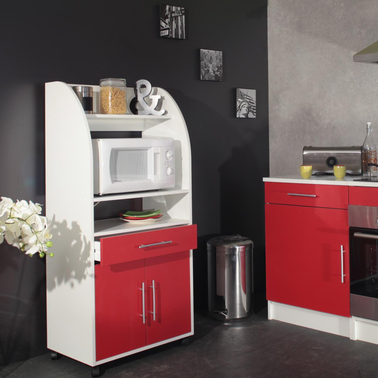 meuble de cuisine pas cher rouge maison et mobilier d 39 int rieur. Black Bedroom Furniture Sets. Home Design Ideas