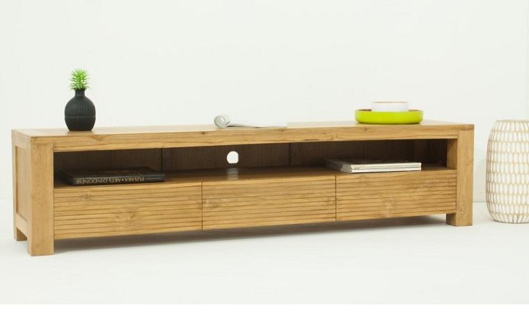 Meuble tv en bois massif Maison et mobilier d intérieur