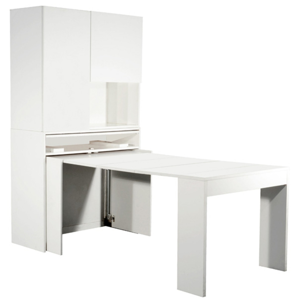 Meuble avec table rabattable for Table cuisine escamotable ou rabattable