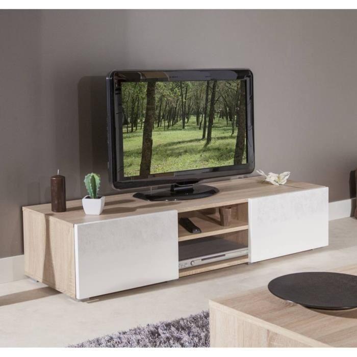 meuble tv chene et blanc maison et mobilier d 39 int rieur. Black Bedroom Furniture Sets. Home Design Ideas