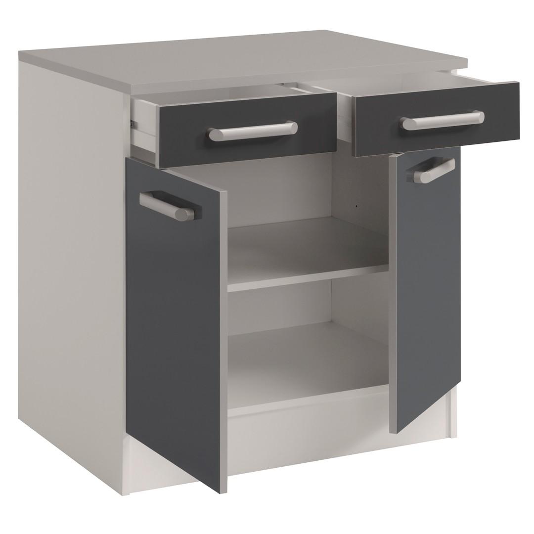Meuble de cuisine bas 2 tiroirs maison et mobilier d for Meuble plein de tiroirs