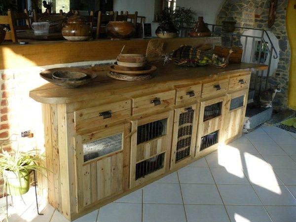 Faire Un Meuble De Cuisine En Palette  Maison Et Mobilier DIntrieur