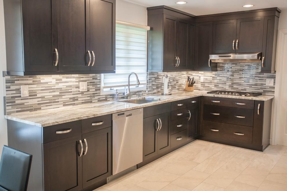 Meuble de cuisine marron maison et mobilier d 39 int rieur for Meuble cuisine elite