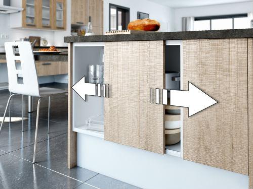 meuble de cuisine porte coulissante maison et mobilier d 39 int rieur. Black Bedroom Furniture Sets. Home Design Ideas