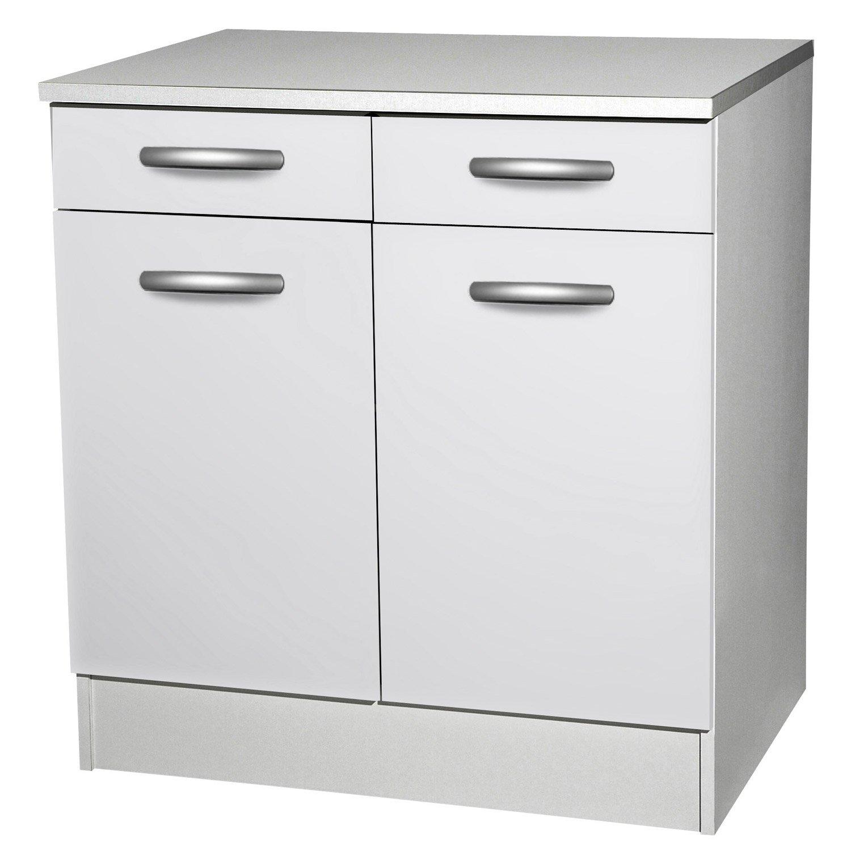 Meuble de cuisine blanc pas cher maison et mobilier d for Meuble de cuisine pas cher blanc