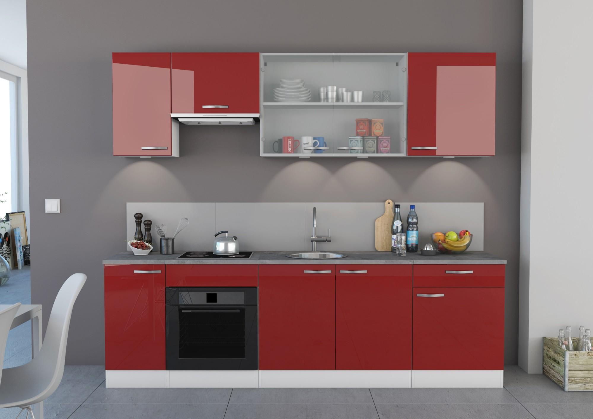 Meuble De Cuisine Campagne Maison Et Mobilier Dintérieur - Meuble de cuisine rouge pour idees de deco de cuisine