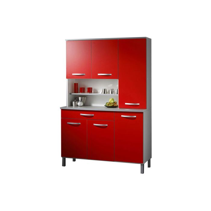 meuble de cuisine rouge et gris maison et mobilier d 39 int rieur. Black Bedroom Furniture Sets. Home Design Ideas