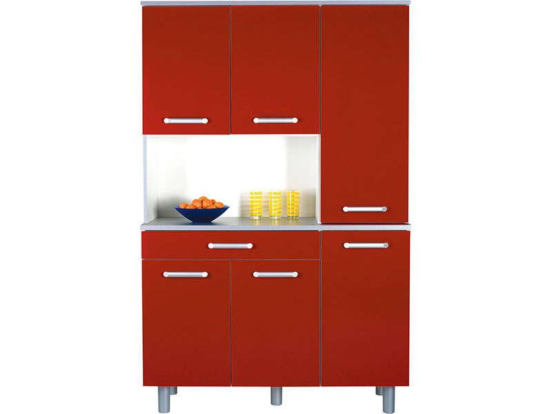 meuble de cuisine rouge et gris maison et mobilier d