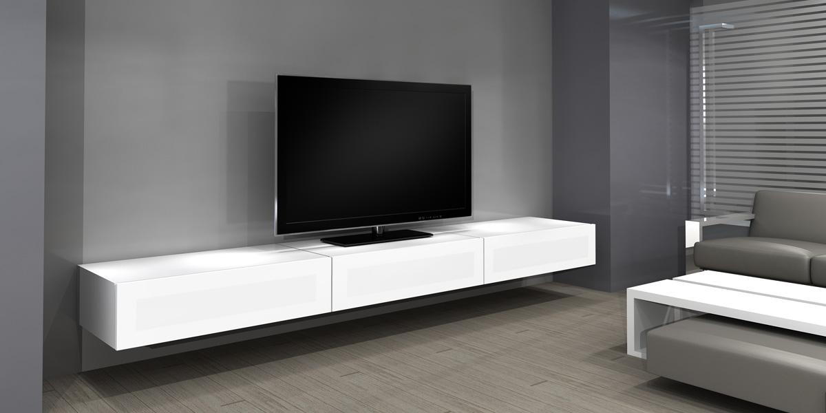 long meuble tv design - Meuble Tv Bas Et Long Design