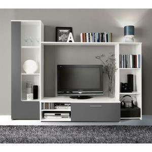 meuble de tv - Grand Meuble Tv Bibliotheque