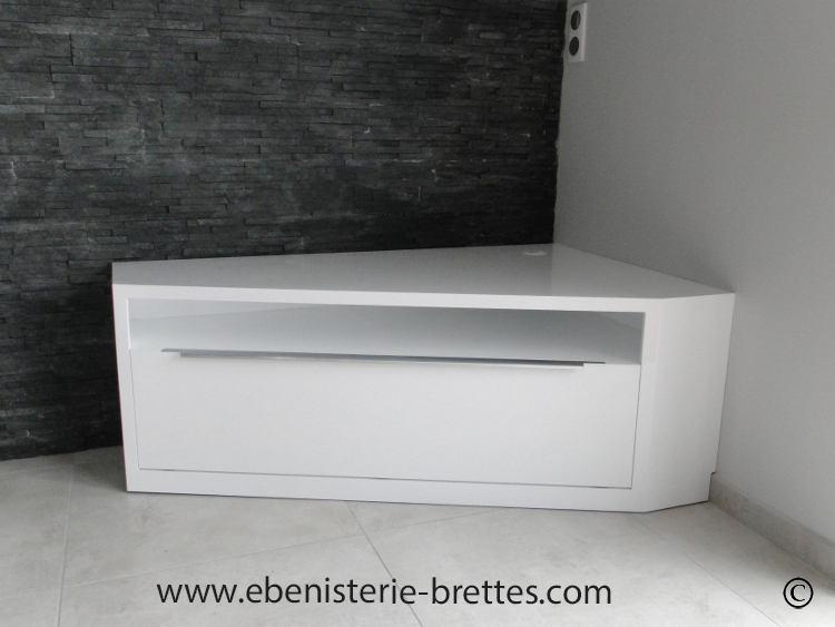 Meuble D Angle Tv Blanc Meuble Tv Design Noir Chatellerault