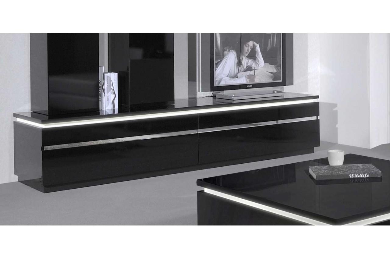 Meuble Tele Blanc Et Noir Maison Et Mobilier D Int Rieur # Meuble Blanc Et Noir