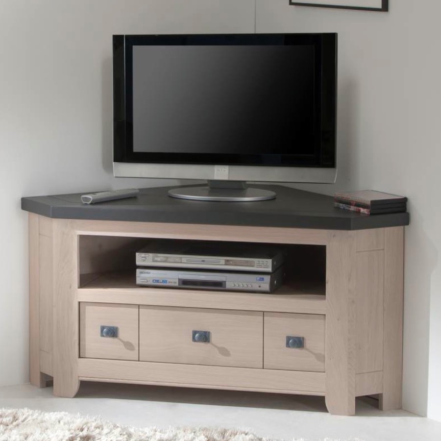 Meuble Angle Tele Meuble Tv Blanc Et Gris Newbalancesoldes # Meuble Angle Tv Blanc