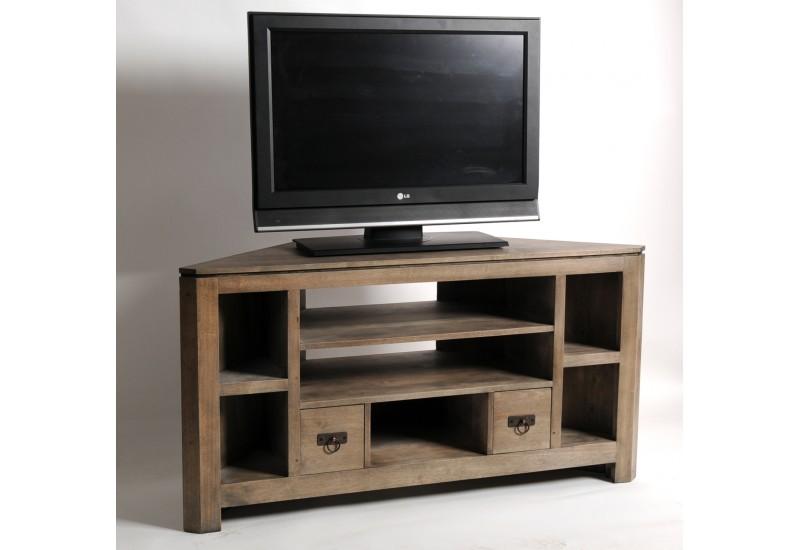 Meuble d 39 angle tv haut maison et mobilier d 39 int rieur for Meuble tv angle haut
