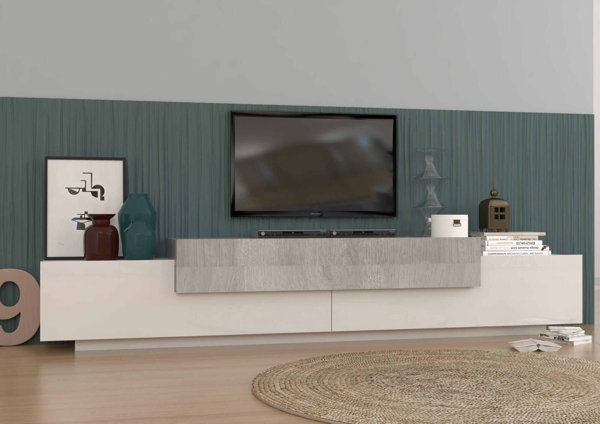 meuble tv blanc moderne - Meuble Tv Blanc Moderne