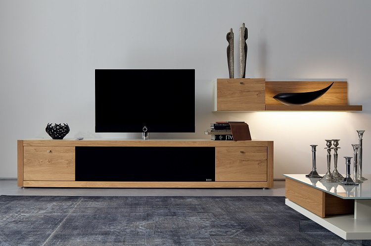 meuble bois brut design meuble tv noir bois brut noir tiroirs avec led cm achat meuble tv en. Black Bedroom Furniture Sets. Home Design Ideas