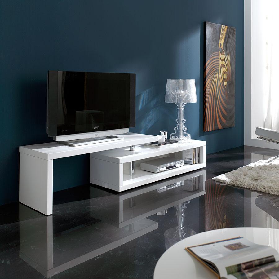 Banc Tv Blanc Laqu Maison Et Mobilier D Int Rieur # Banc Meuble Tv