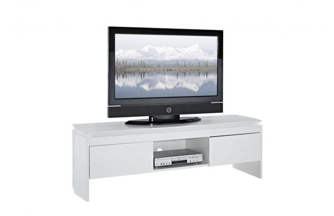 Banc tv blanc laqu pas cher maison et mobilier d 39 int rieur for Banc tv pas cher