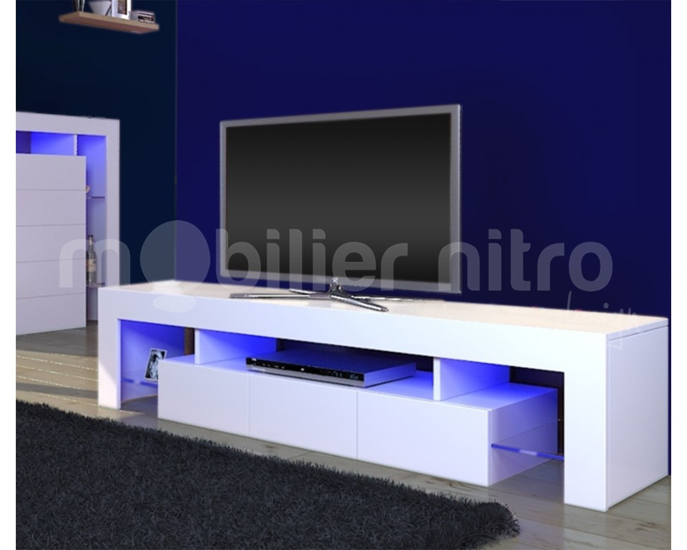 meuble tv blanc design fashion designs. Black Bedroom Furniture Sets. Home Design Ideas