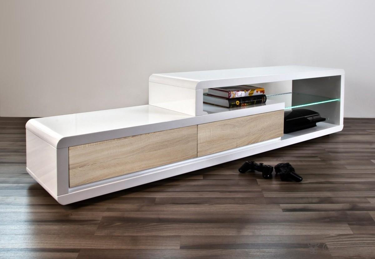 Meuble Tv Laque Et Bois Maison Et Mobilier D Int Rieur # Modele Meuble Tv En Bois