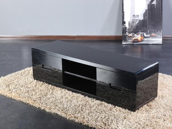 Meuble Tv Laqu Noir  Maison Et Mobilier DIntrieur